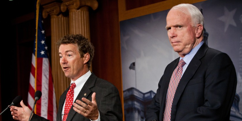 John McCain, Rand Paul And Fellow Republican Senators Introduce A GOP Alternative Jobs Bill